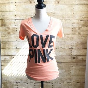PINK BY VICTORIA SECRET  SHORT SLEEVE TEE  SMALL